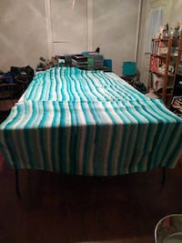 Teal white and green striped handmade  York, 17401