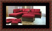 Red sectional with ottoman New Carrollton