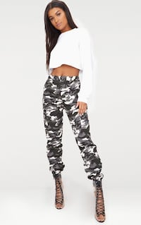 Grey Camo Pant from PrettyLittleThing MISSISSAUGA