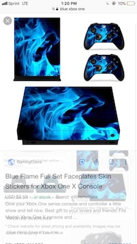 Blue and black xbox one controller and console Baltimore, 21217