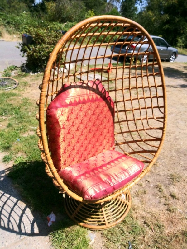 Magnificent Vintage Italian Hand Woven Rattan Egg Chair Home Interior And Landscaping Synyenasavecom