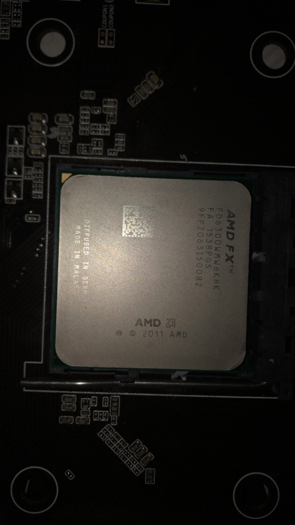 Amd fx6300 & gigabyte ga970 gaming motherboard and cpu