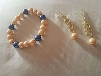 Champagne and blue beaded bracelet Cleveland, 44119