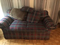 red and brown plaid sofa Annandale, 22003