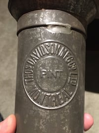 Antique 1800s Pint Measuring Cup Advertising Thos Davidson Mfg Co Ltd Deux-Montagnes, J7R 4M5