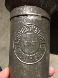 Antique 1800s Pint Measuring Cup Advertising Thos Davidson Mfg Co Ltd