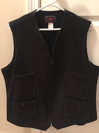 Mens Lg Wool Vest - Johnson Woolen  Mills VT.   Brick, 08723