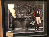 Autographed Ray Lewis last pass thru the tunnel. Framed autographed with certificate of authenticity Cockeysville, 21030
