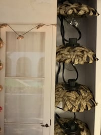 10ct Outdoor Natural Woven Open Hood String Lights - Opalhouse™
