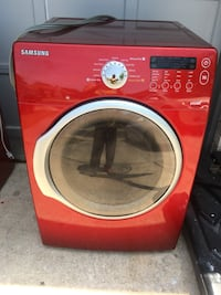 red Samsung front-load clothes washer SANANTONIO