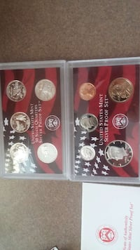 Silver proof sets York, 29745