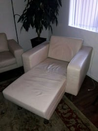 white leather lounge style chair.  Las Vegas, 89183