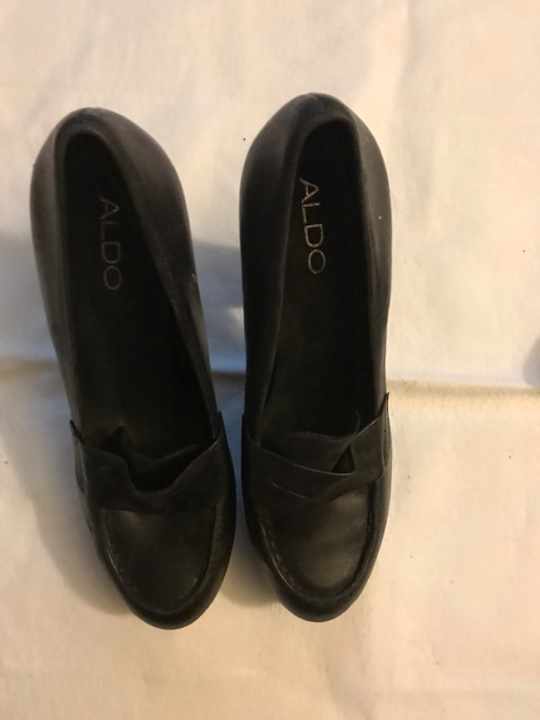 ALDO NEW High heeled loafers. Butter soft leather