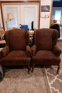 Wingback chair set of 2 Mobile, 36695