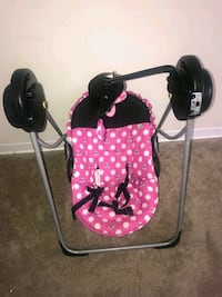 baby's pink and black floral swing chair Capitol Heights, 20743