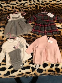 4 new with tags 6m-12m baby girl outfits 551 km