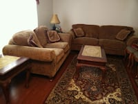 brown suede sofa set Mississauga, L5M 5G3