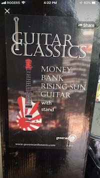 RISING SUN GUITAR COIN BANK Ingersoll, N5C 1L9