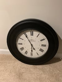round black wooden framed analog wall clock Washington, 20006