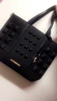 MK black leather bag with tags