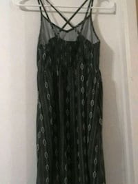 women's black and gray spaghetti strap dress Riverside