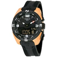 round black and brown analog watch with black strap Mississauga, L4V 1E3