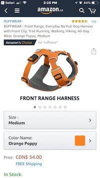 Ruff wear dog harness all sizes available  Edmonton, T5T 3N2