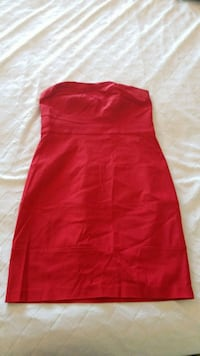 Strapless short red dress size large Surrey, V4N 5Y9