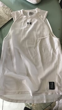 Under armor gym run mesh white shirt muscle Spring, 19610