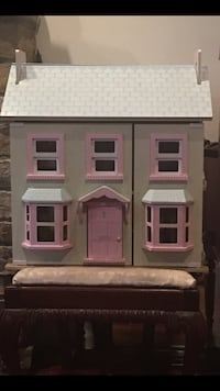 Gray and pink wooden 2-storey dollhouse Bethesda, 20816