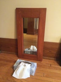 Antique Pine Frame Mirror