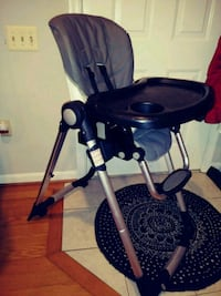 black and gray high chair  Alexandria, 22306