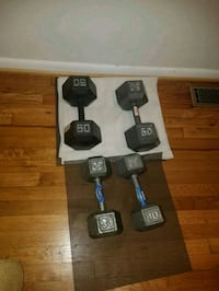 Four black fixed weight dumbbells Raleigh, 27601