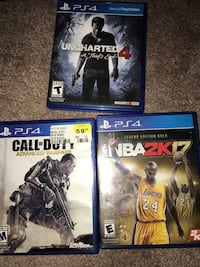 two Sony PS4 game cases Cleveland, 44111