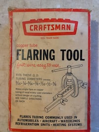 Craftsman copper tube flaring tool Dallas, 75248