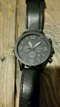 Fossil watch with black leather strap Kitchener, N2G 1R9