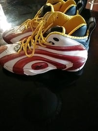 pair of white-and-red reebok basketball shoes Jacksonville