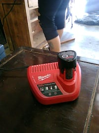 milwaukee 12v   charger and battery