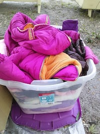 two pink and black jackets in container Ocilla, 31774