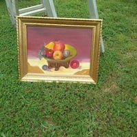 brown wooden framed painting of fruits Roaring River, 28669