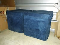 two blue collapsible storage ottomans  Milford Mill, 21244
