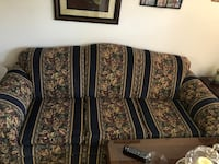 Brown and black floral fabric sofa Corpus Christi, 78411
