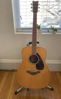 Yamaha FG730S acoustic guitar with hard-shell case