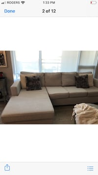 Sectional Light grey couch Vaughan, L4H 2E1