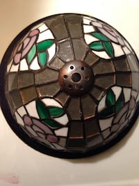 black, white, and green stained glass dome light Toronto, M1N 1X9