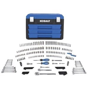 Kobalt 227-Piece Standard/Metric Polished Chrome Mechanics Tool Set