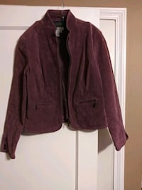 Plum suede leather jacket size S/P Baltimore, 21224