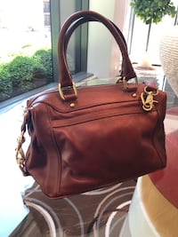 Rebecca Minkoff Blythe Leather Satchel in the color Acorn Chicago, 60610