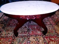 Italian Marble Coffee Table With Hondorus Mahogany Cranberry Township