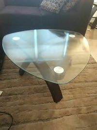 clear glass table with black wooden frame Springfield, 01107